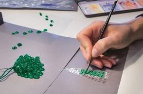 Emerald Tassel necklace-Design Image 1