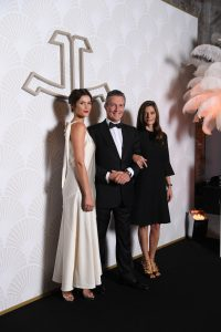 VENICE, ITALY - SEPTEMBER 06: (L-R) Jury member Gemma Arterton, Jaeger-LeCoultre Ceo Daniel Riedo and Jury member Chiara Mastroianni arrive to a gala dinner hosted by Jaeger-LeCoultre celebrating The Rendez-Vous Collection at Arsenale during the 73rd Venice Film Festival on September 6, 2016 in Venice, Italy. (Photo by Daniele Venturelli/Getty Images for Jaeger-LeCoultre) *** Local Caption *** Gemma Arterton; Daniel Riedo; Chiara Mastroianni