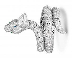 """الساعة الماسية السرية """"سربنتين"""" من غراف. Graff Diamond Serpentine secret watch."""