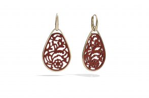 VICTORIA earrings with red rhodoid by Pomellato - AED12800