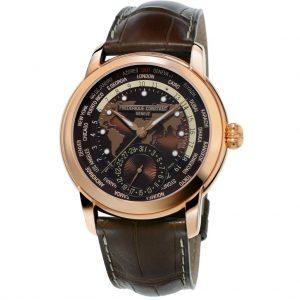 ساعة Classic Worldtimer Manufacture  من Frederique constant