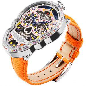 """ساعة Petit Skull (Celebration) """"Eternity"""" من  Fiona Kruger timepieces"""