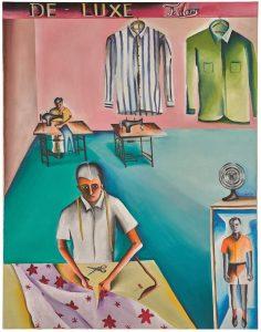 Bhupen Khakhar, De-Luxe Tailors, oil on canvas, 1972 (est. £250,000-350,000)