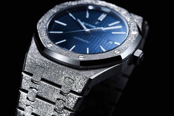 ساعة رويال أوك فروستد جولد الجديدة من Audemars Piguet. (Audemars Piguet)