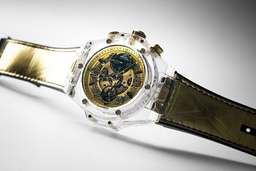 ساعة Big Bang UNICO Sapphire Usain Bolt من دار Hublot