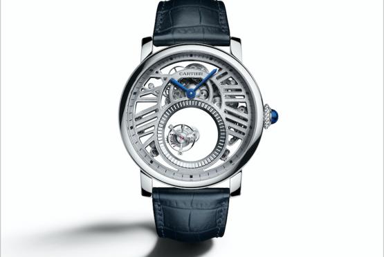 ساعة Rotonde De Cartier Skeleton Mysterious Double Tourbillon